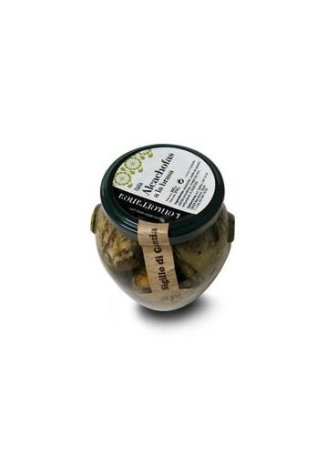 Alcachofas a la brasa en aceite
