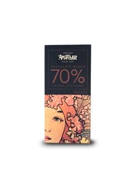 Chocolate negro 70% cacao Ecuador - 70gr