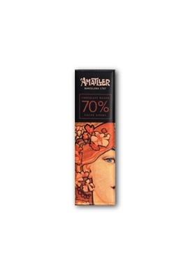 Chocolate negro 70% cacao Ghana 18gr