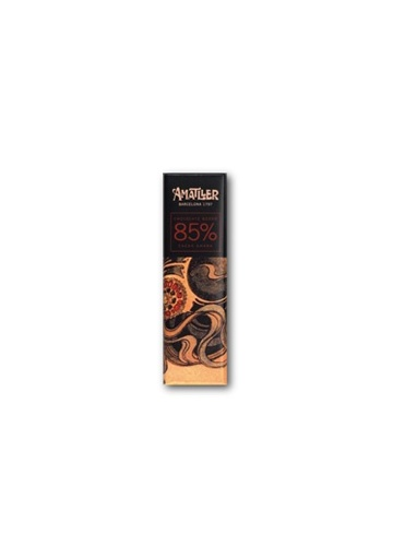 Xocolata negra 85% cacau Ghana 18gr.